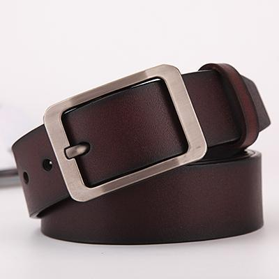 Classic I Men's Leather Belt with Metal Buckle
