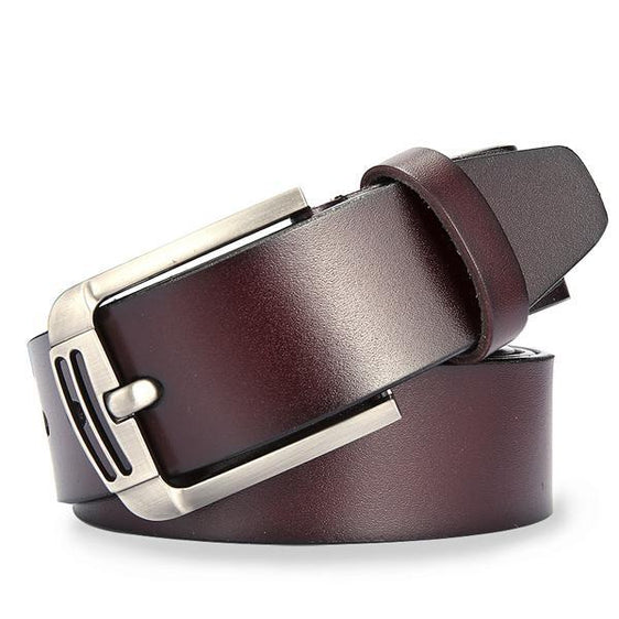 Classic II Men's Genuine Leather Belt with Metal Buckle