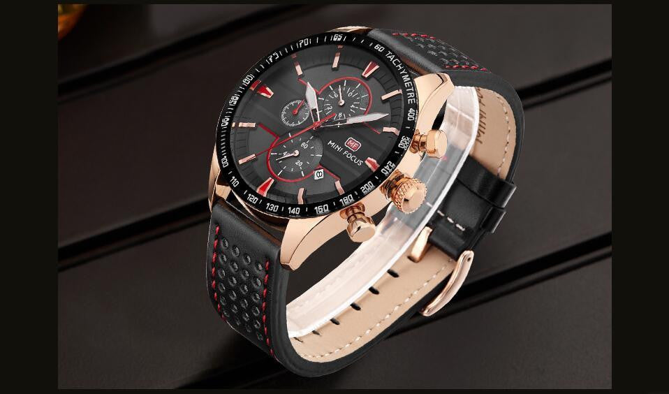 F 786 Quartz Water Resistant Complete Calendar Men's Wrist Watch