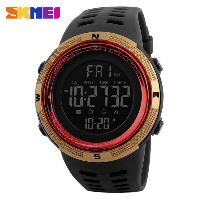 S 398 Water Resistant Sports Multifunction LED Digital Men's Watch