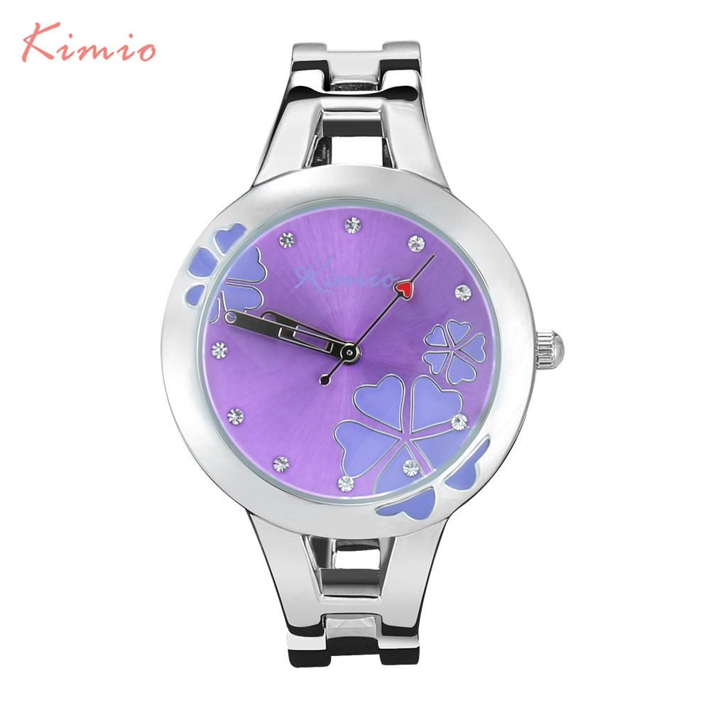 Women's Luxury Quartz Fashion Flower Bracelet Wrist Watch