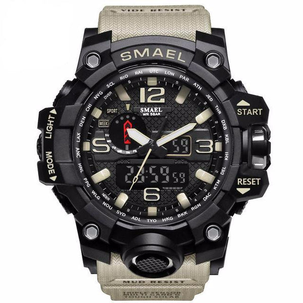 S-1515 Men's Oversized Shock Resistant Dual Display Sport Watch