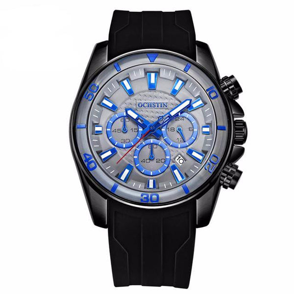 Navigator 9 Men's Professional Chronograph Watch with Silicone Band
