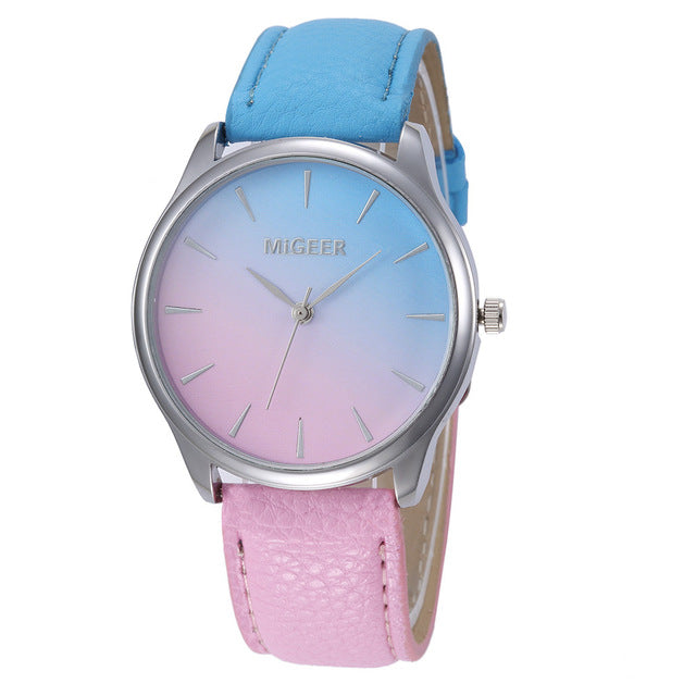 Watercolors Women's Fashion Analog Watch