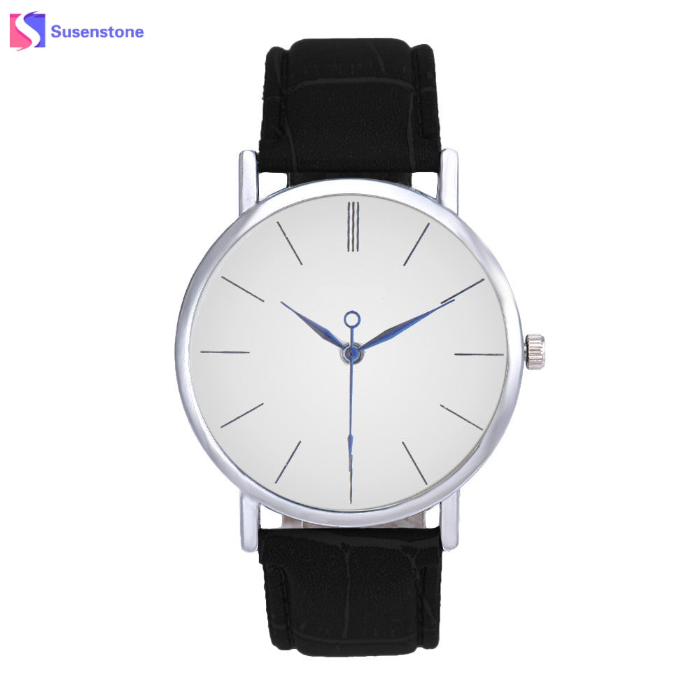 Famous Luxury Analog Quartz Watch With Leather Strap