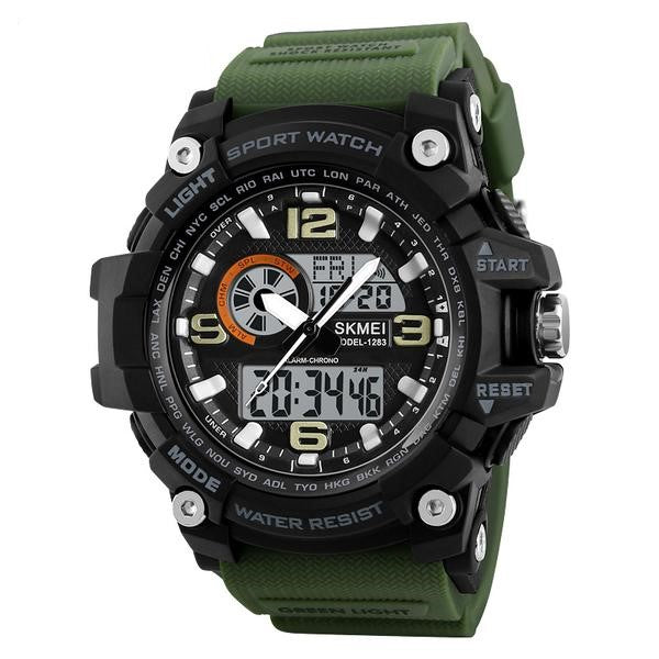 S-1283 Men's Rugged Dual Display Chronograph Watch