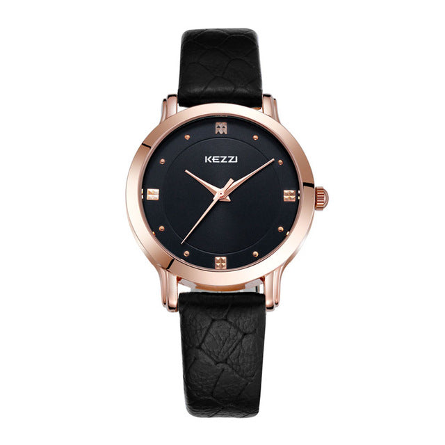 Luxury Quartz & Leather Watch for Men & Women