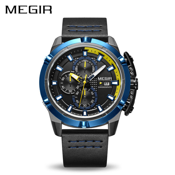 MEGIR Men Chronograph Military Army Sports Watch