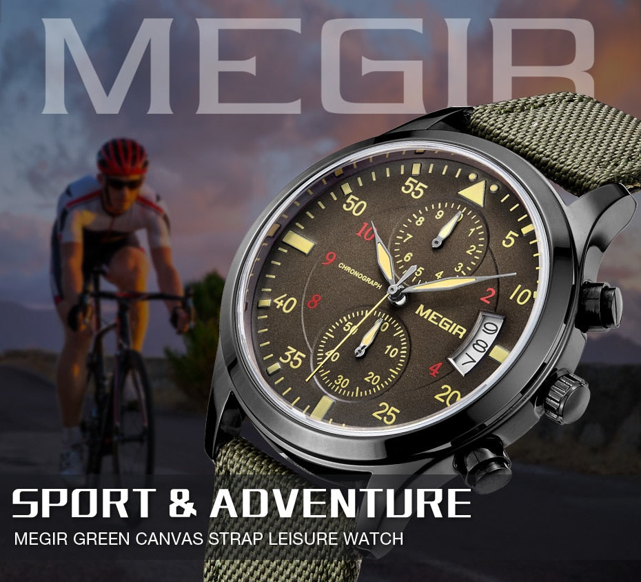 MEGIR Original Canvas Military Watch