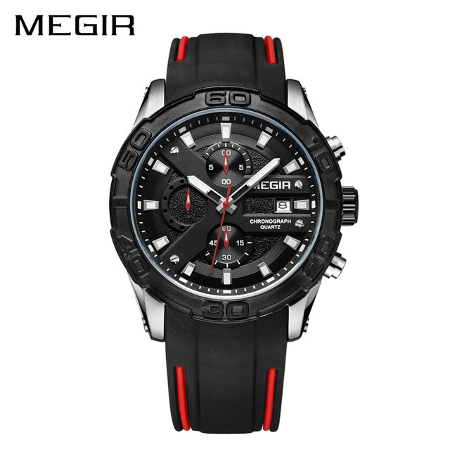MEGIR Chronograph Men's Military Inspired Sport Watch