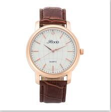 Luxury World Emblem Watch With Leather Strap