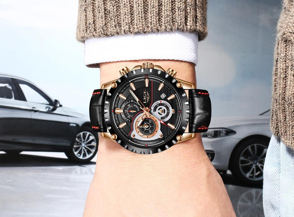 THE TURBINE Luxury Quartz Leather Watch
