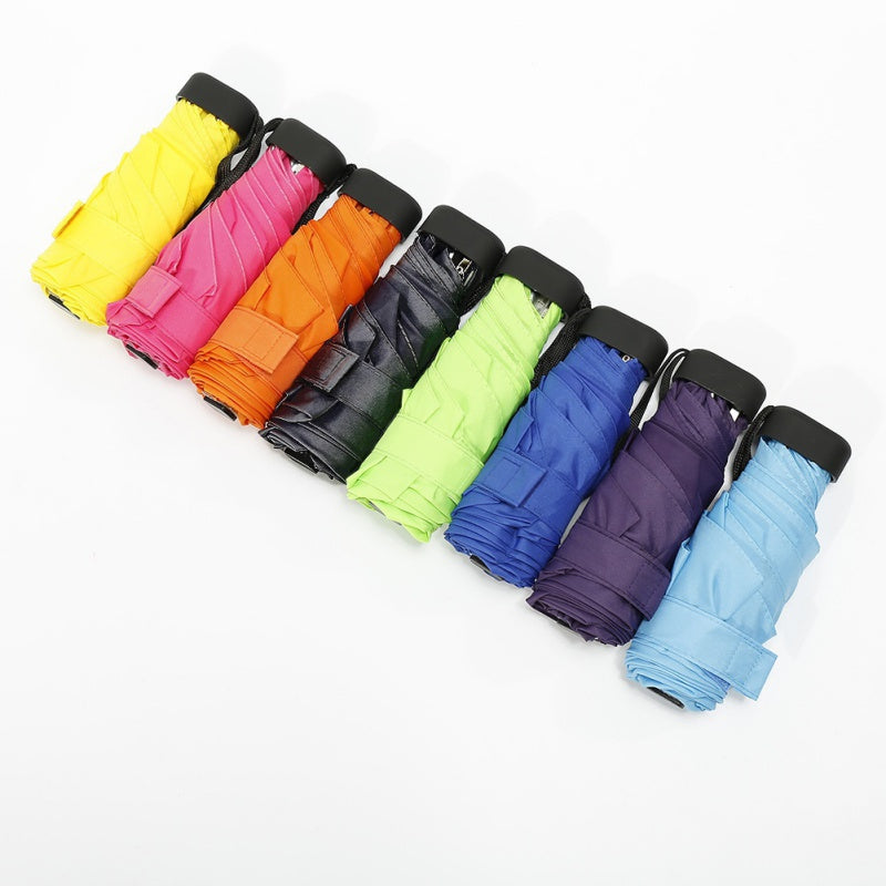 Multicolor Capsule Mini Pocket Umbrella