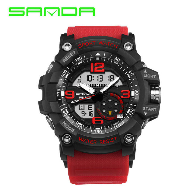 THE SURVIVALIST Dual Display Shockproof 5ATM Sports Watch
