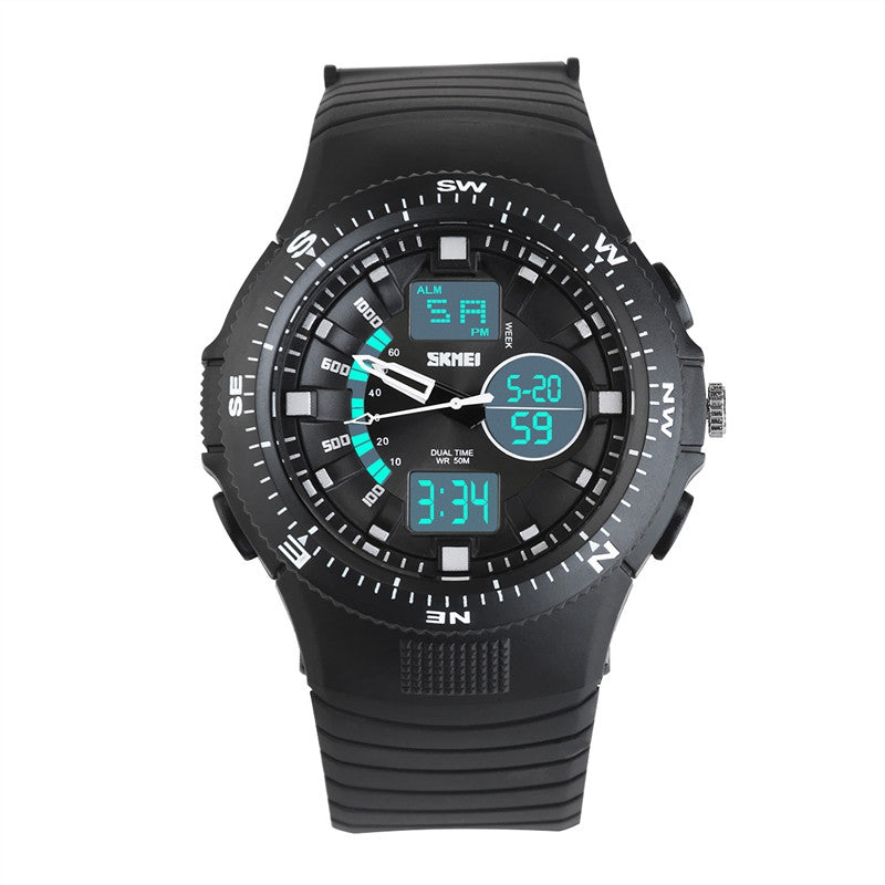 Multifunctional Dual Display Watches for Men Waterproof Sports Watch