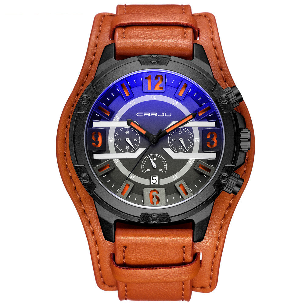 Luxury Leather Chronograph Men's Quartz Watches