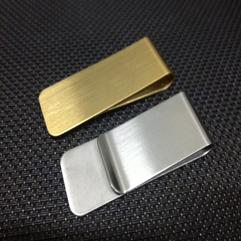 Gold or Silver Duo Money Clip Wallet