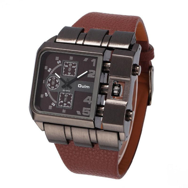 Men's Modern Square Antique Design Quartz Watch