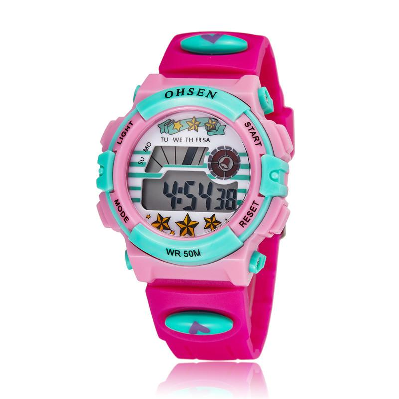 Children's Multi-colored LED Digital Quartz Sports Waterproof Watch
