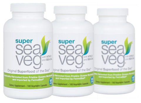 Super Sea Veg 3 x 180 Capsules by FarmaSea Health