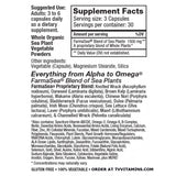 Original Sea Veg 90 Supplement Facts