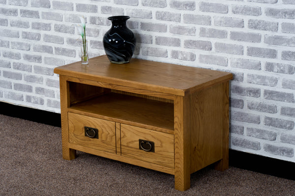 Duddon Oak Small TV Unit - The Sofa Group