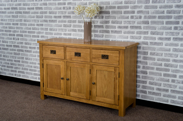 Duddon Oak Large Sideboard - The Sofa Group