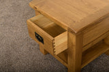 Grasmere Oak Lamp Table with Drawer - The Sofa Group