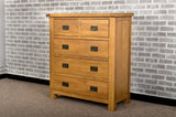Grasmere Oak 2 Over 3 Chest Of Drawers - The Sofa Group