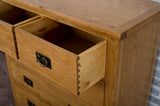 Duddon Oak 2 Over 3 Chest - The Sofa Group