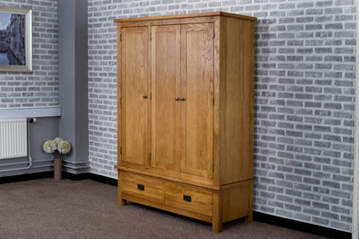 Duddon Oak Triple Wardrobe - The Sofa Group