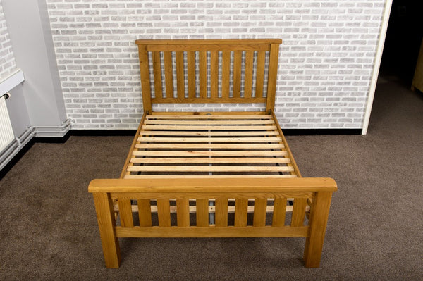 Duddon Oak Slatted Bed 4'6 - The Sofa Group