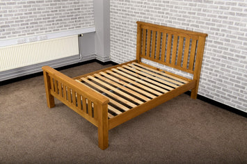 Grasmere Oak 5'0 King Size Bed - The Sofa Group