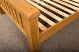 Duddon Oak Slatted Bed 5' - The Sofa Group
