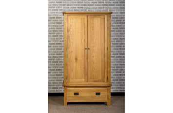 Duddon Oak Gents Wardrobe - The Sofa Group