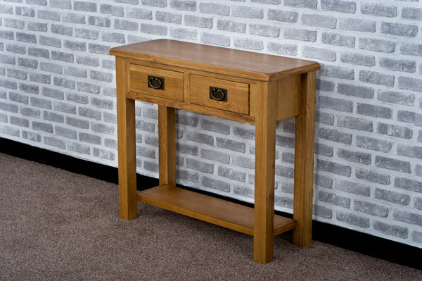 Duddon Oak Console Table - The Sofa Group