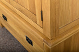 Grasmere Oak Gents Wardrobe - The Sofa Group