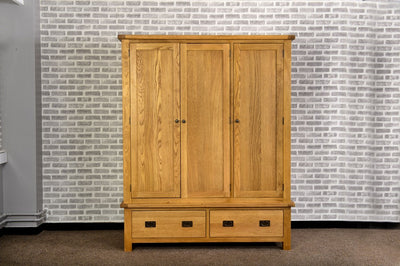 Grasmere Oak Triple Wardrobe - The Sofa Group