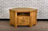 Grasmere Oak Corner TV Unit - The Sofa Group
