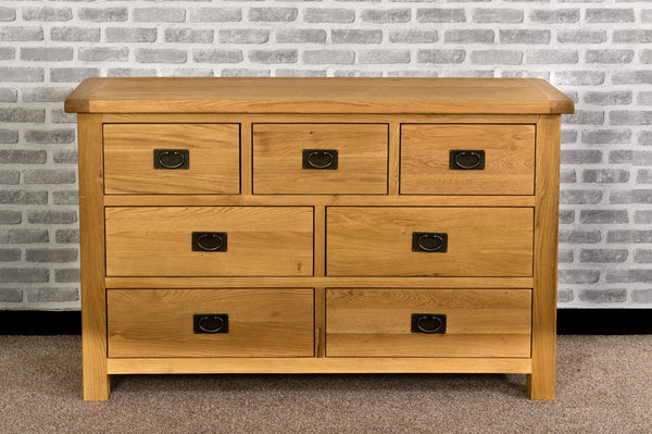Grasmere Oak 3 Over 4 Chest - The Sofa Group