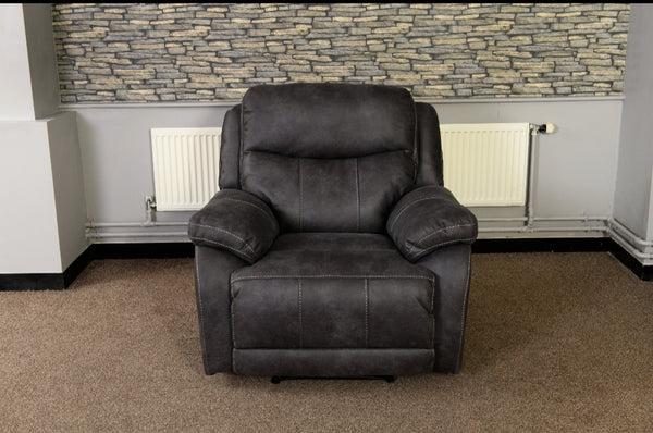 Arden Grey Manual Recliner Chair
