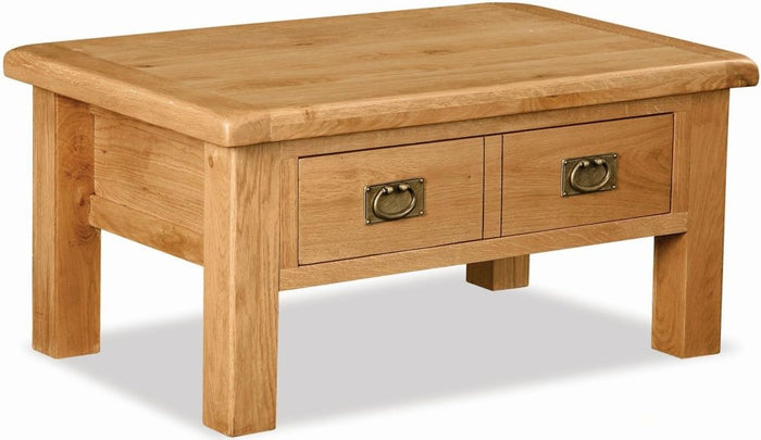 Grasmere Oak Coffee Table With Drawer - The Sofa Group