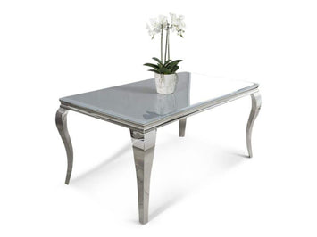 Balmoral Smoked Grey Glass Table