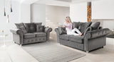 Napoli Grey 2 Seater Sofa