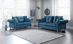 Napoli Teal 3 and 2 seater set