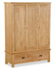 Duddon Oak Triple Wardrobe