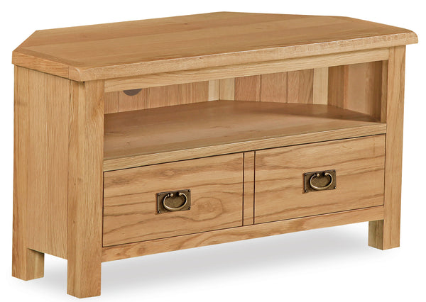 Duddon Oak Corner TV Unit