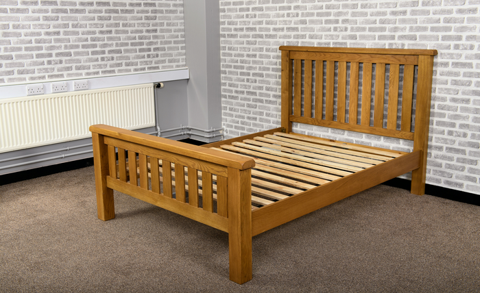 Grasmere Oak 4'6 Double Bed - The Sofa Group