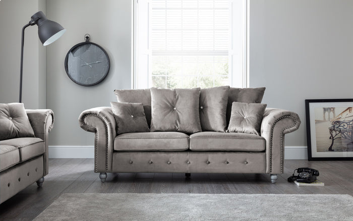 Napoli Grey 3 Seater Sofa