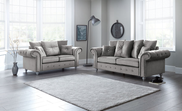 Napoli Grey 3 and 2 Seater Set